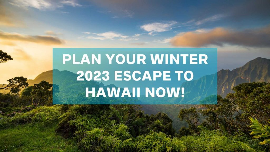 Plan your winter 2023 escape to hawaii