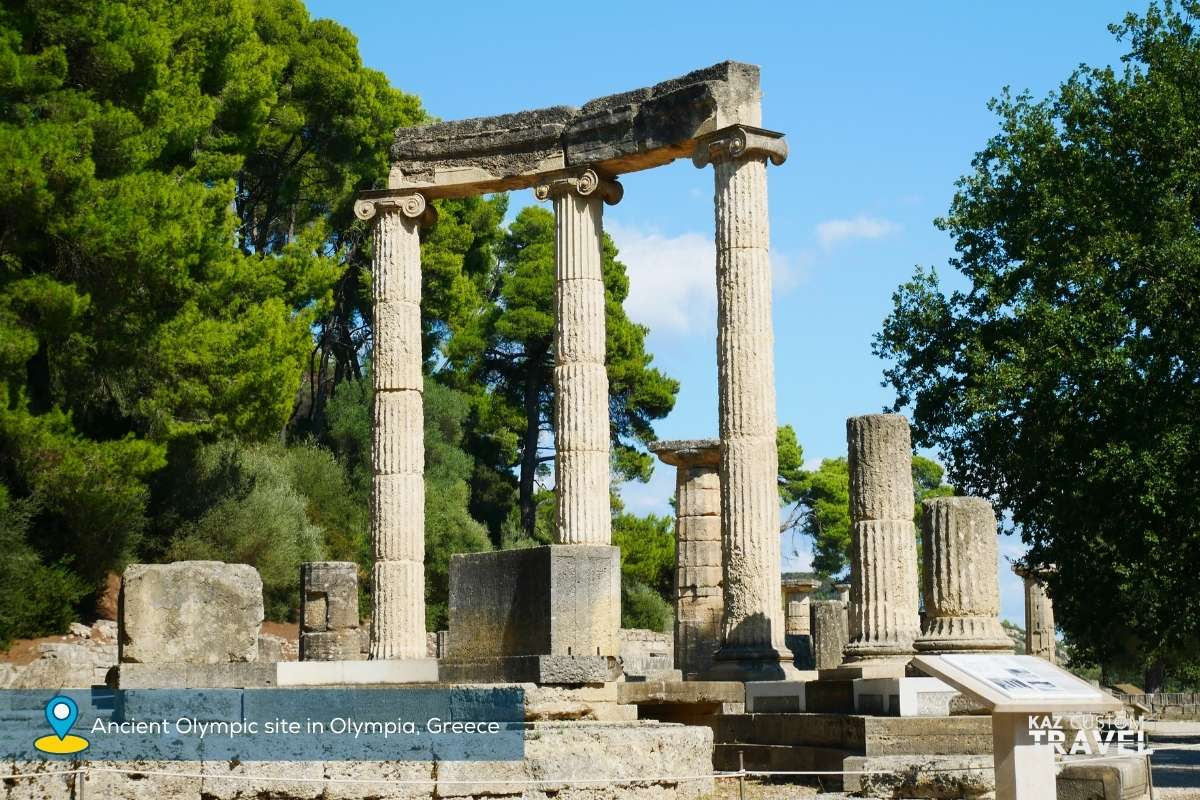 Ancient Olympic site in Olympia, Greece