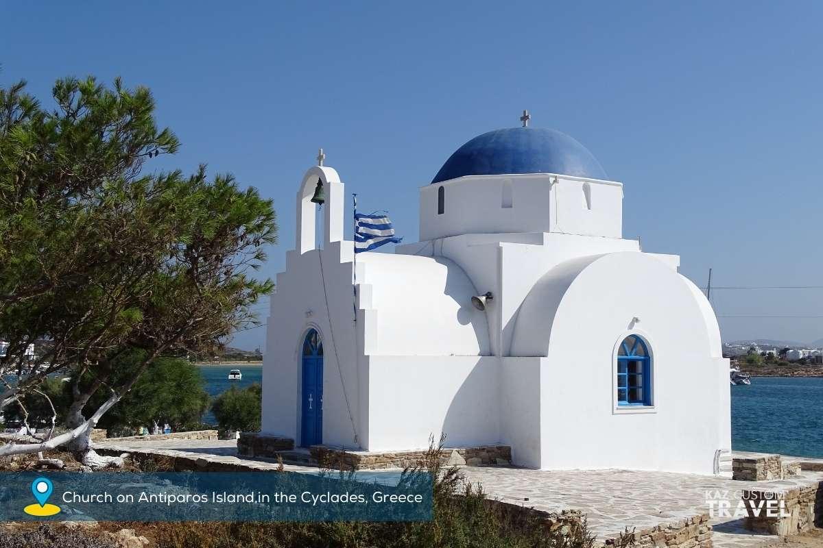 Church on Antiparos Island,in the Cyclades, Greece