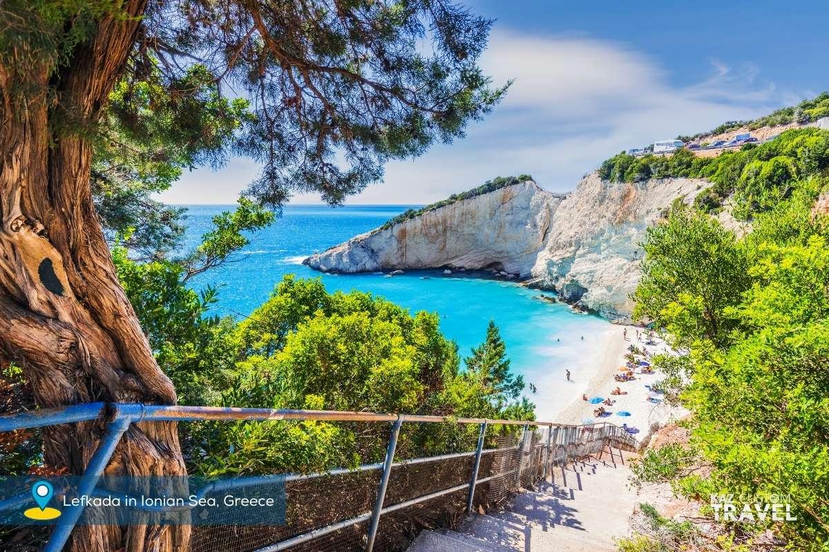 Lefkada in Ionian Sea, Greece