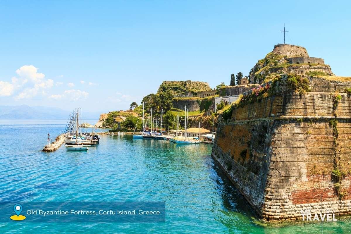 Old Byzantine Fortress, Corfu Island, Greece