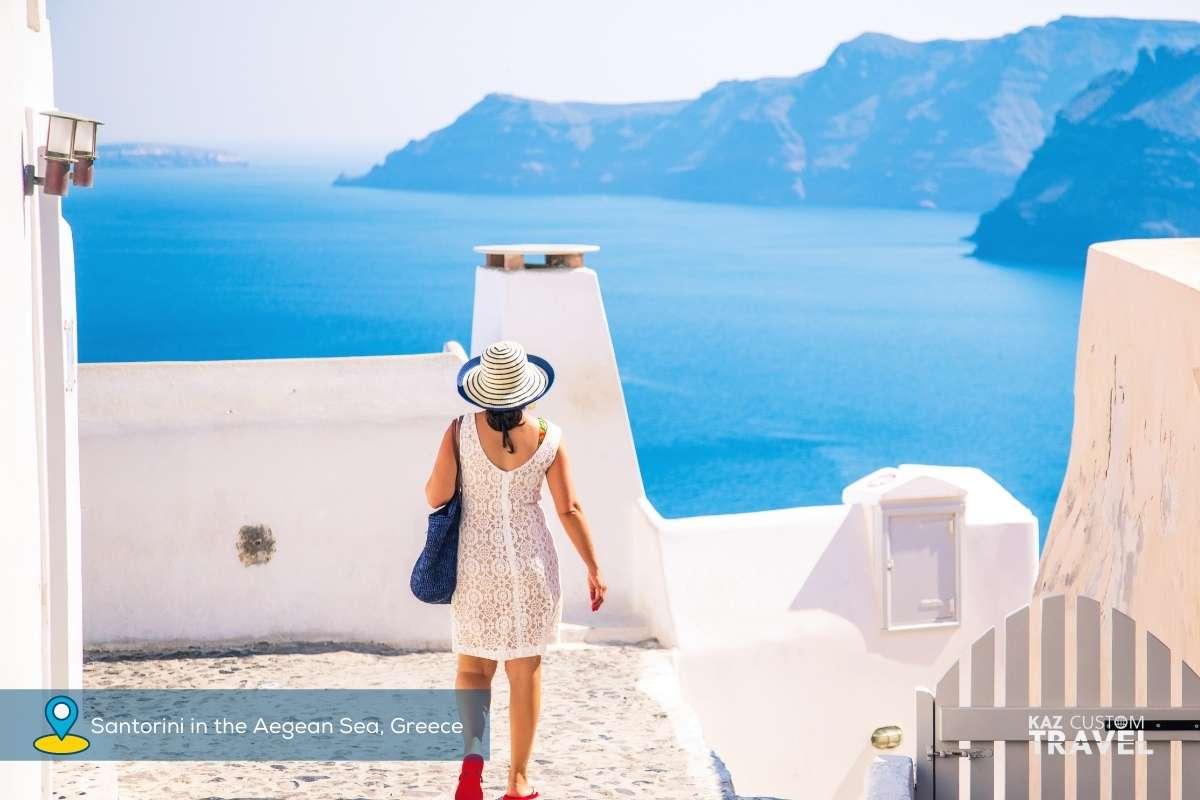 Santorini in the Aegean Sea, Greece