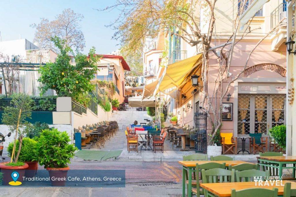 Traditional Greek Cafe, Athens, Greece