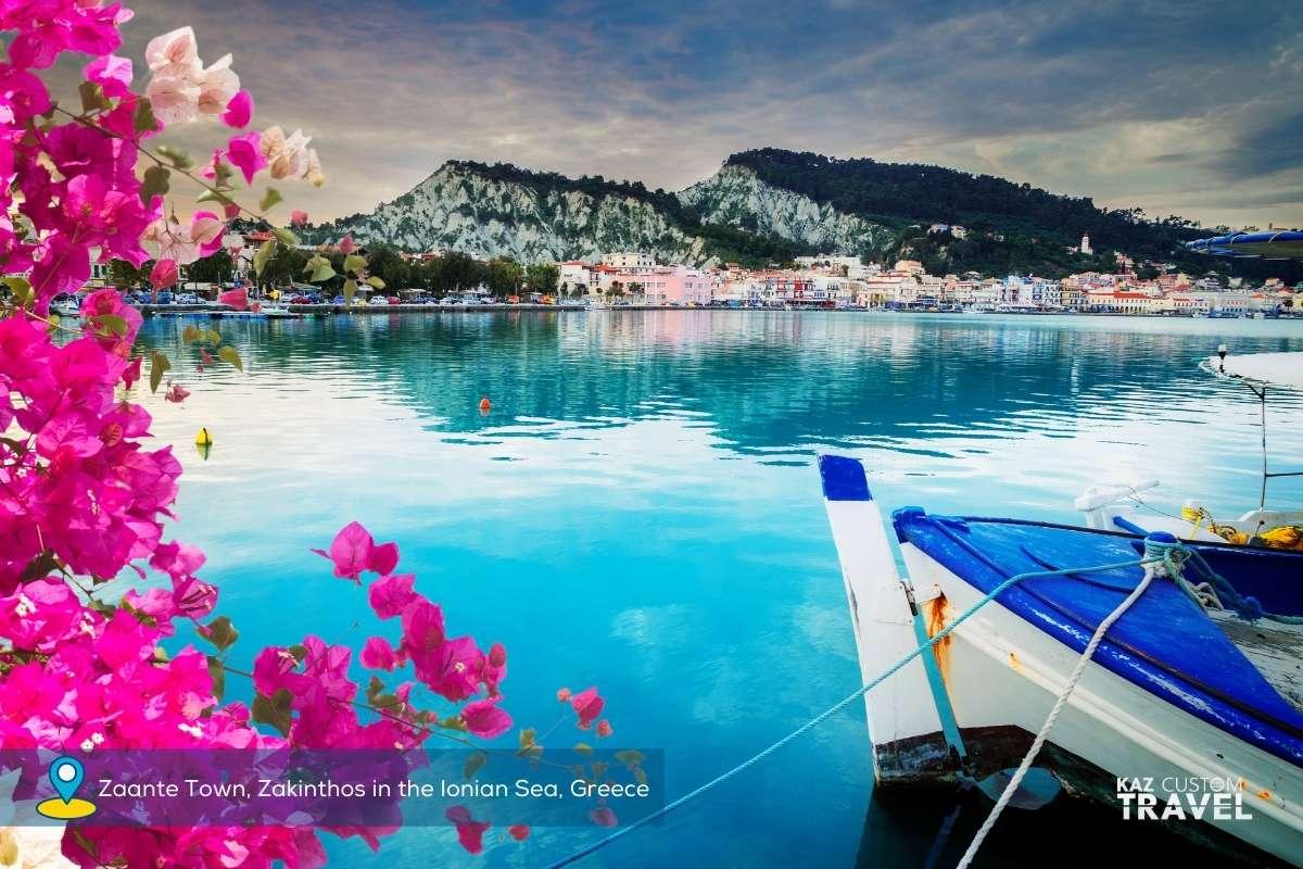 Zaante Town, Zakinthos in the Ionian Sea, Greece