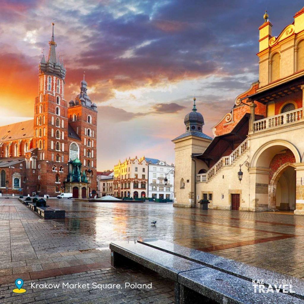 Polish Krakow Market Square, Poland